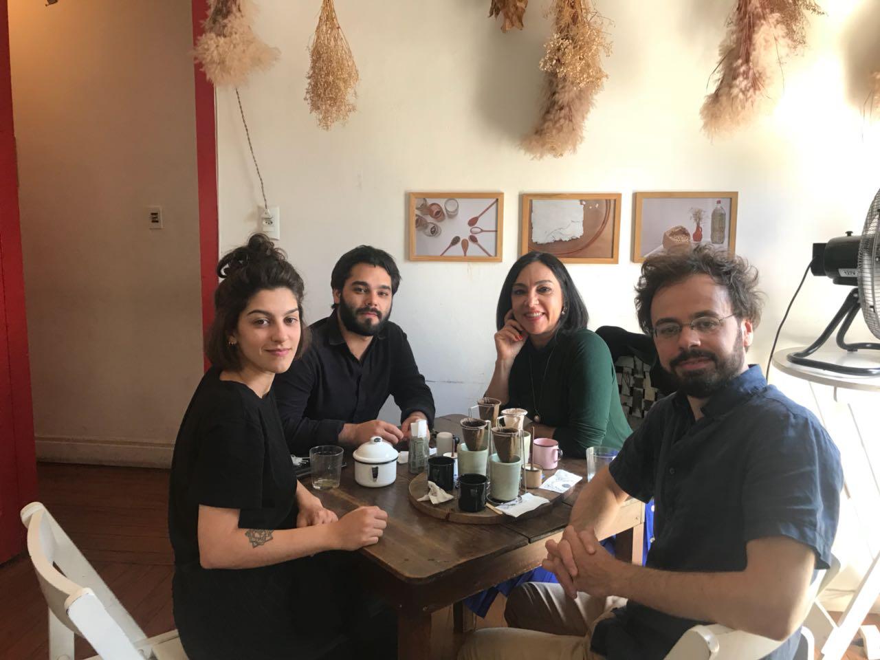 Família Foz almoçando na A Baianeira