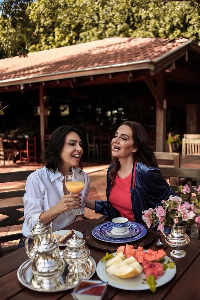 Valéria Foz e Claudia Métne no Hotel Fazenda Foz do Marinheiro