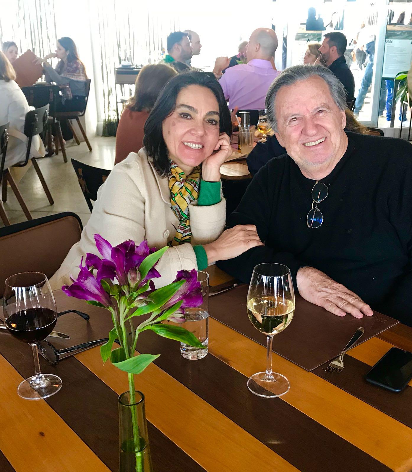 Valéria e Wilson Foz no Restaurante Vista SP